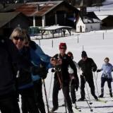 Die Pitfit-Gruppe beim Skilanglauf 2016