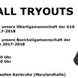 U16 & U18 Basketball: Tryouts für die Saison 2017-2018